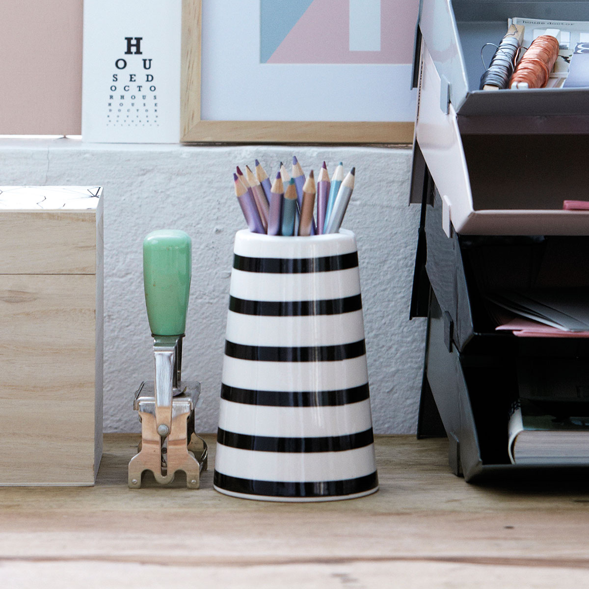 House Doctor Vase Streifen