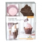 Preview: Cupcake Deko Set Schoko-Rose 48 teilig