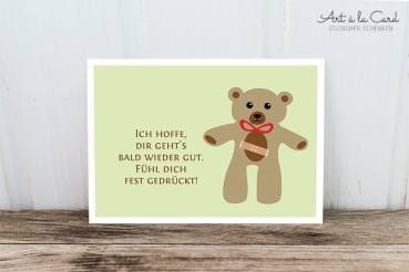 Postkarte Teddy - Art a la Card