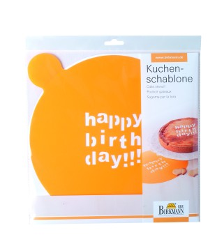 Kuchenschablone Happy Birthday