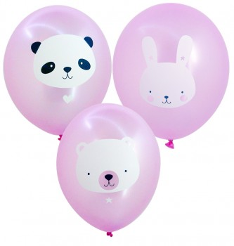 Luftballon Baby Animals Pink // 6er Set