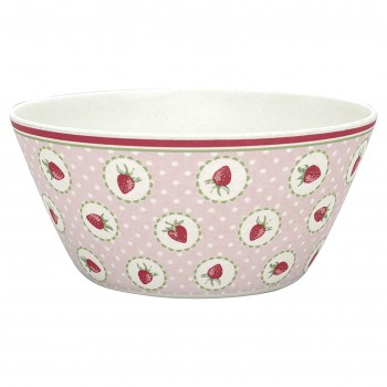 Greengate Melamin Schale Strawberry Pale Pink