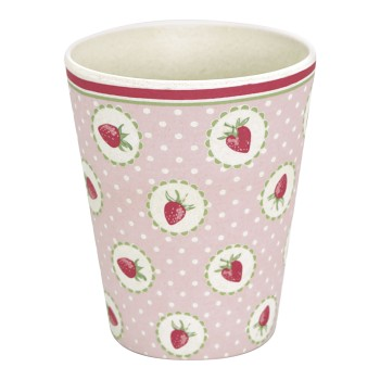 Melamin Becher Strawberry Pale Pink- Greengate