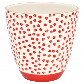 Latte Cup Dot Red - Greengate