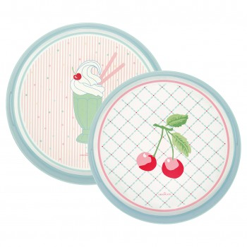 Tablett Isa pale Pink 2er Set - Greengate