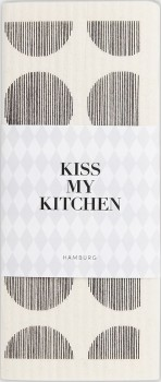 Schwammtuch Dots White Black - KISS MY KITCHEN