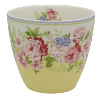 Latte Cup Rose Pale Yellow Greengate Limited Edition