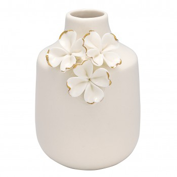 Vase Flower White 11,5cm Greengate