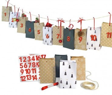 Adventskalender Set Natural Christmas