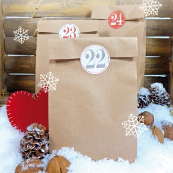 Adventskalender Set Kraftpapier
