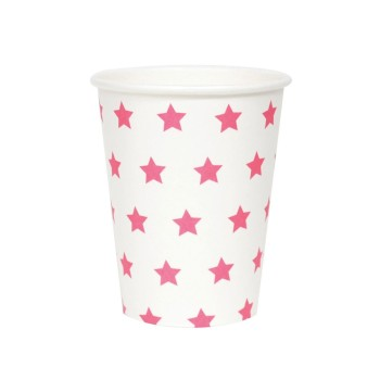 Pappbecher Sterne MY LITTLE DAY// 8er Set // pink