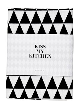 Geschirrtuch Dreieck White Black - KISS MY KITCHEN