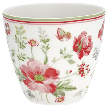 Latte Cup Meadow White - Greengate