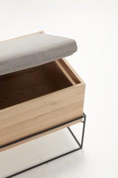Hübsch Sitzbank Mit Kissen Ablagefach
