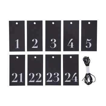 House Doctor DIY Adventskalender Zahlen 1 - 24