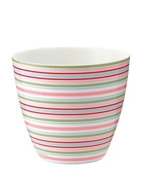 Latte Cup Silvia Stripe White - Greengate