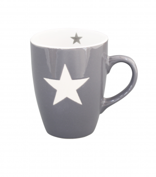 Krasilnikoff Tasse Brightest Star Grau