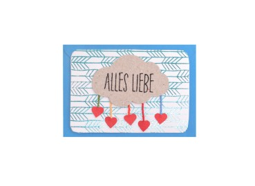 Mini Kärtchen Alles Liebe - Good old friends