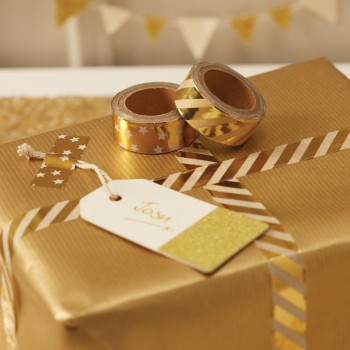 Masking Tape Metallic - gold  2er Set