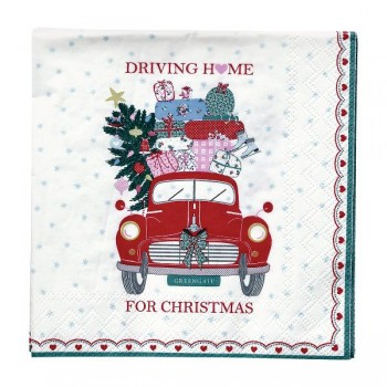 Papierservietten Christmas Car - Greengate