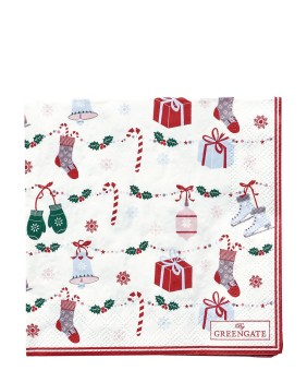 Papierservietten Jingle Bell White - Greengate