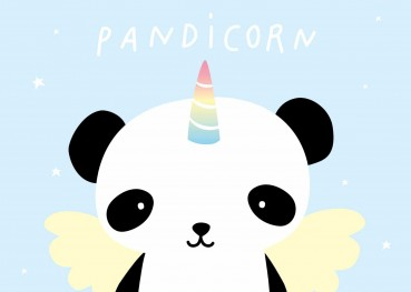 Postkarte Pandicorn - A little lovely Company