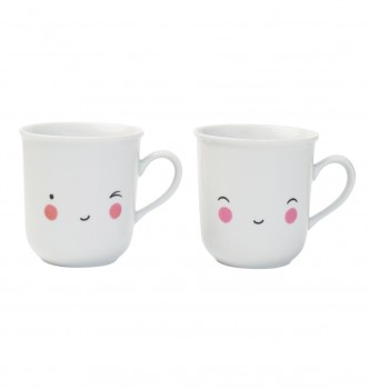 Tasse Happy von A little lovely Company 2er Set