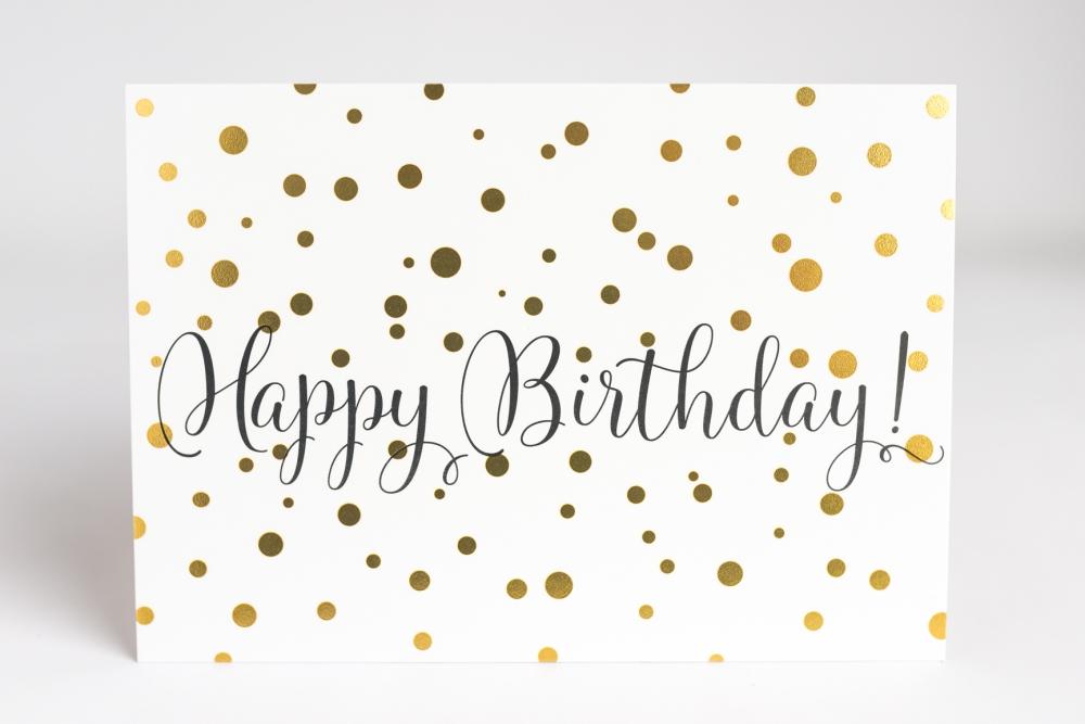 Happy Birthday Karte.Postkarte Happy Birthday Konfetti Art A La Card
