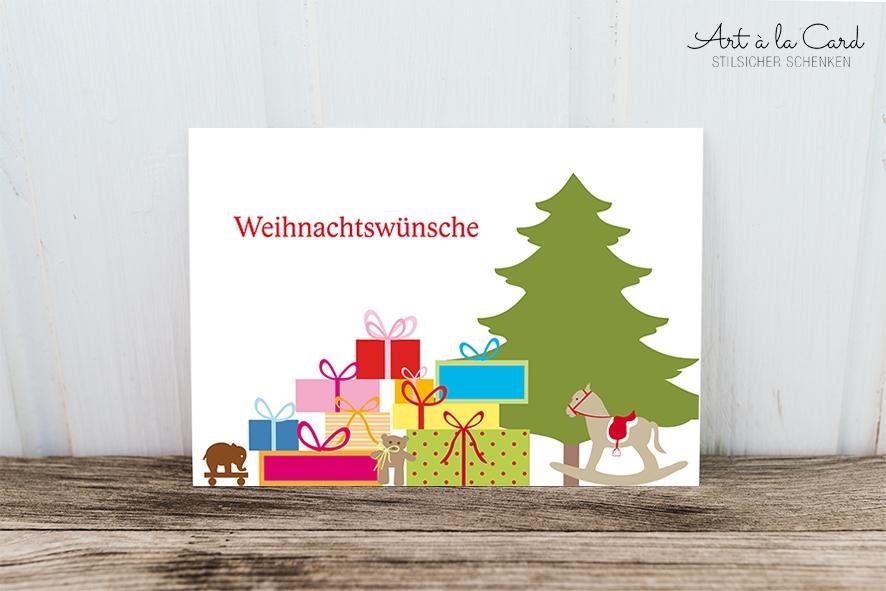 Süße Weihnachtswünsche.Postkarte Weihnachtswünsche Art A La Card