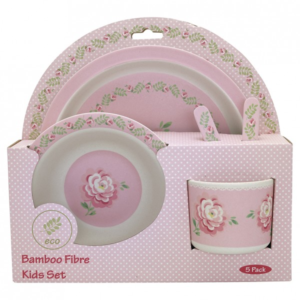 Kids Geschirr Set Lily Petit White Melamin Greengate