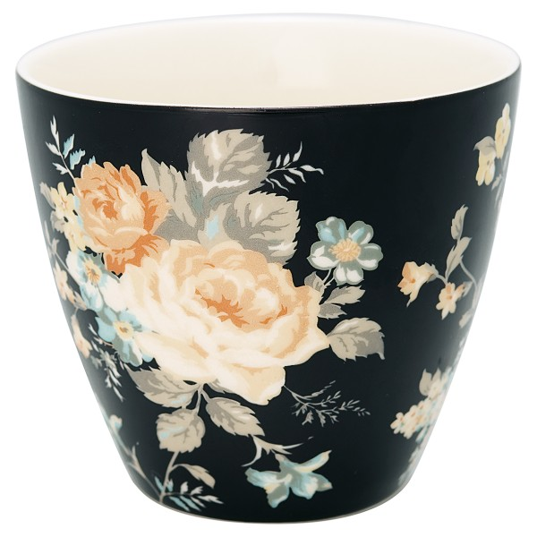 Latte Cup Josephine Black - Greengate