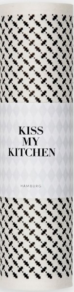 Schwammtuch Rolle Pali Pur White Black - KISS MY KITCHEN