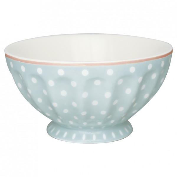 Greengate Schale French Bowl XL Spot Pale Blue