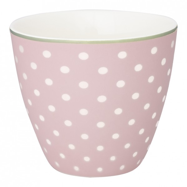 Greengate Latte Cup Spot Pale Pink