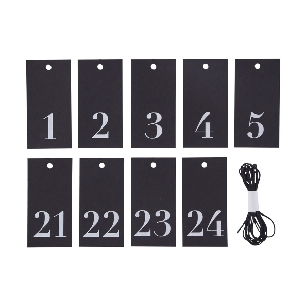 House Doctor DIY Adventskalender Zahlen 1 bis 24