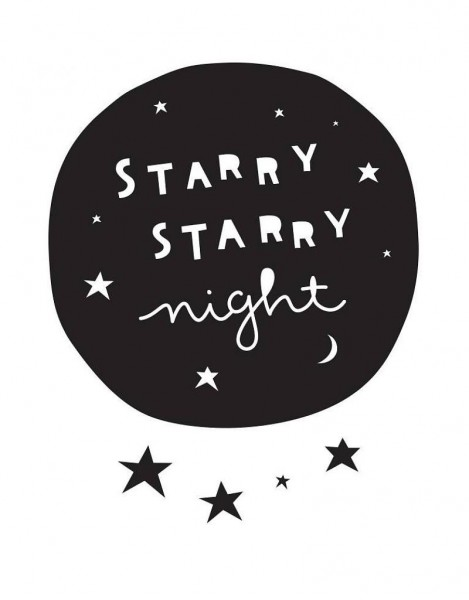 Wandsticker Starry Night - A little lovely Company