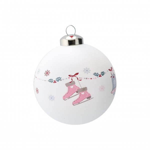 Weihnachtskugel Jingle Bell White - Greengate