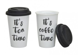 Becher To Go Its Teatime / Its Coffe Time - 2er Set
