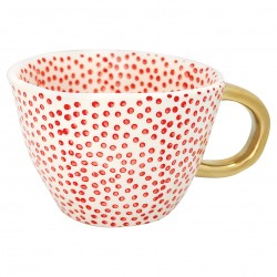 Henkeltasse Dot Red Greengate